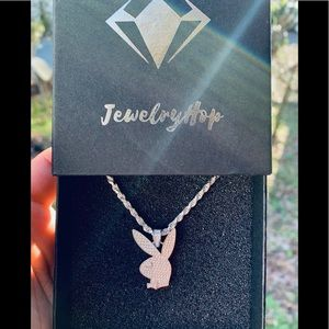 925 Sterling Silver playboy Bunny Necklace